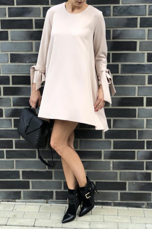 Sukienka CLASSY Pudrowy Róż