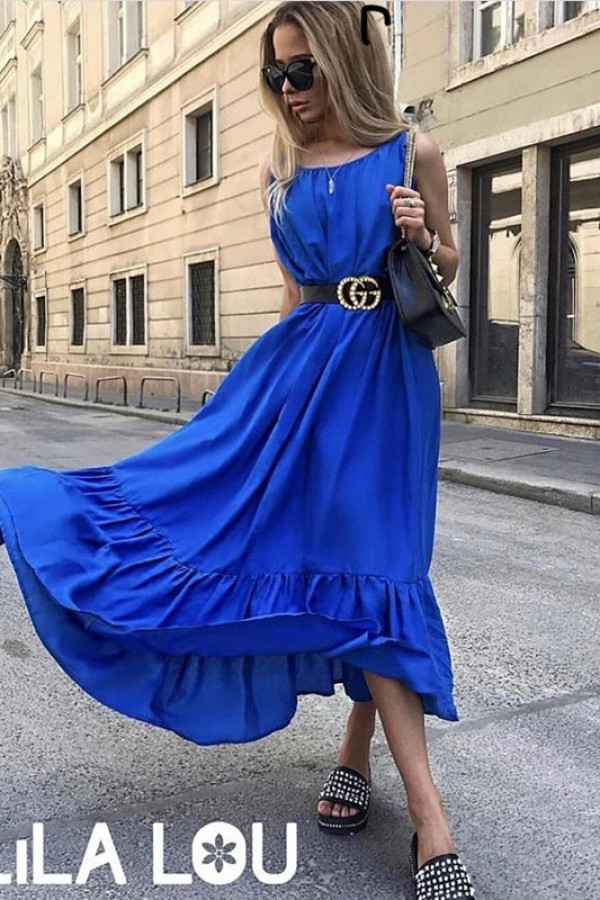 Sukienka GYPSY Niebieska