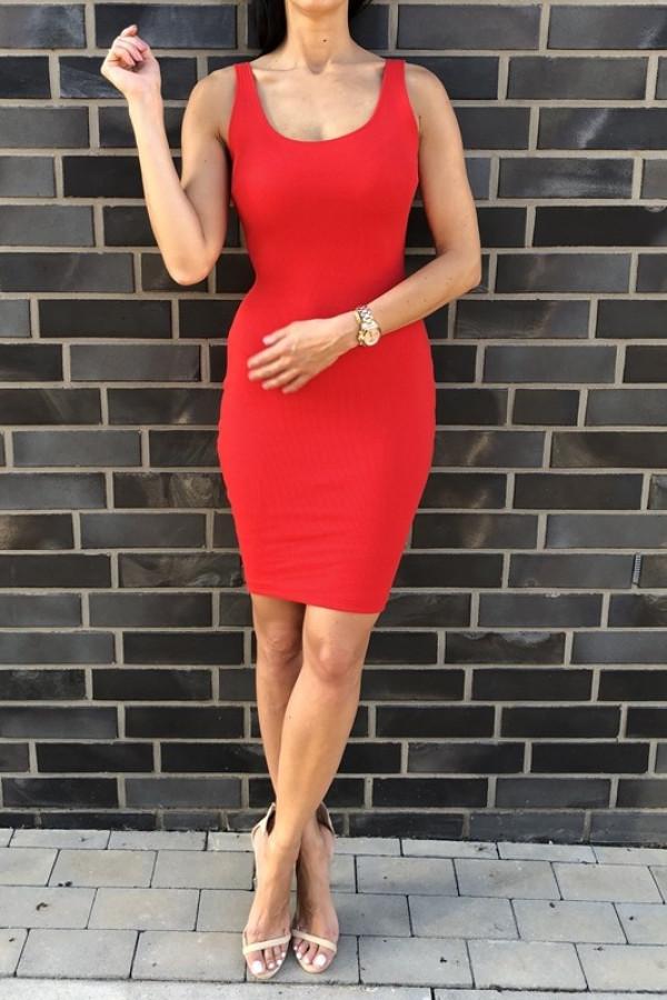 Sukienka MALWI Czerwona