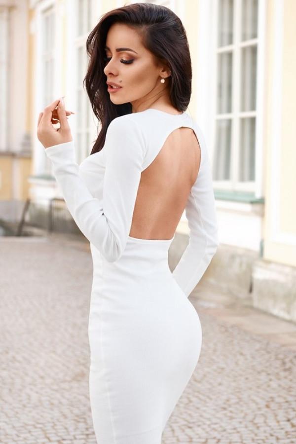Sukienka CROFT Off White