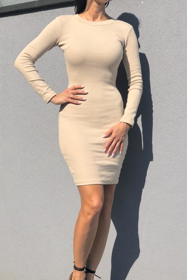 Sukienka PATI Beżowy 1