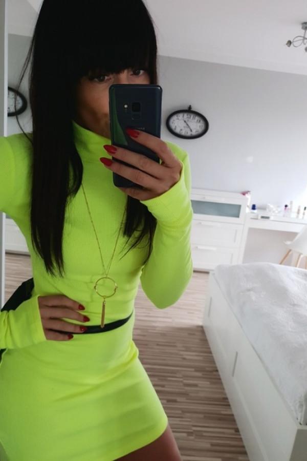 Sukienka LOSSAL Neon Żółty