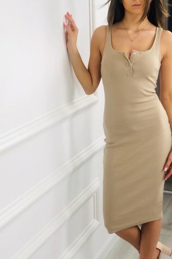 Sukienka LENA Beżowa 2