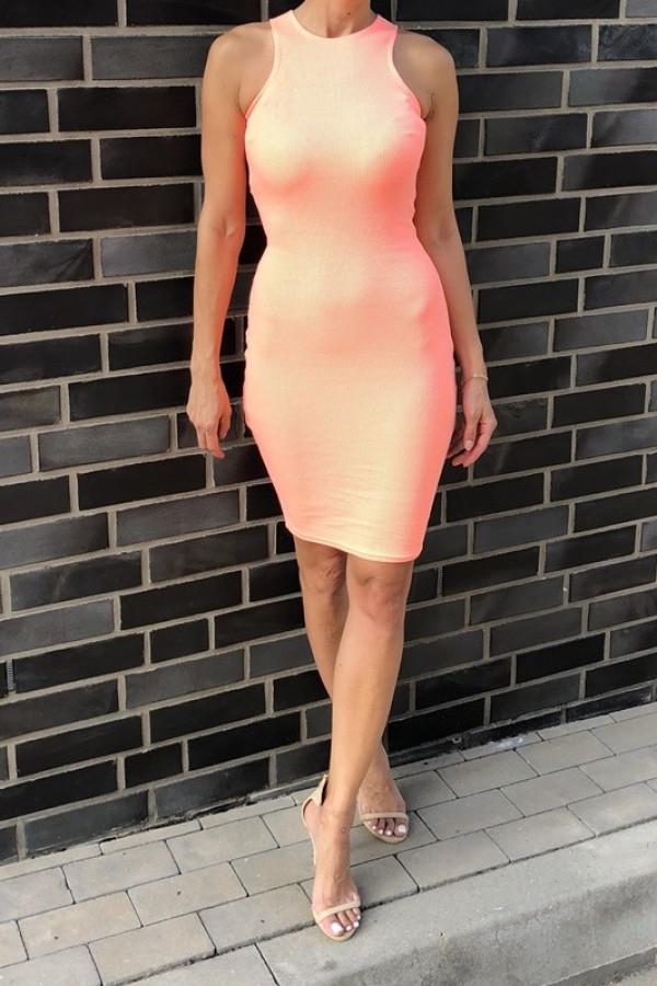 Sukienka LOREN Fresh Neon Pomarańczowy 3