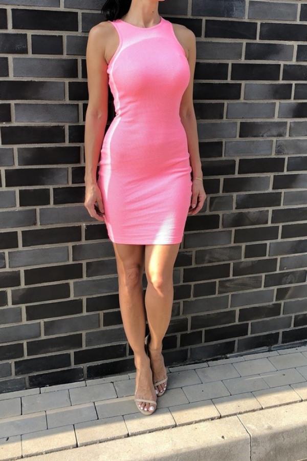 Sukienka LOREN Fresh Neon Różowy 1