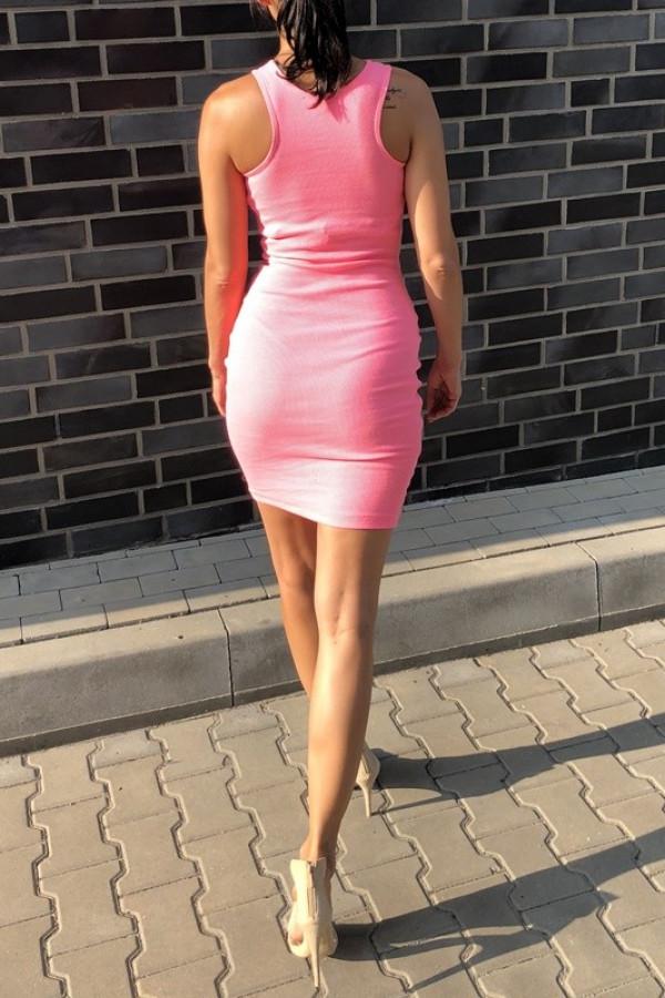 Sukienka LOREN Fresh Neon Różowy 2