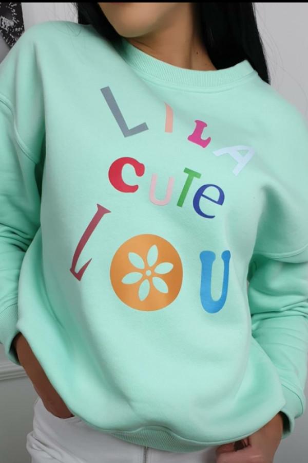 Bluza Lila Lou Cute Mięta