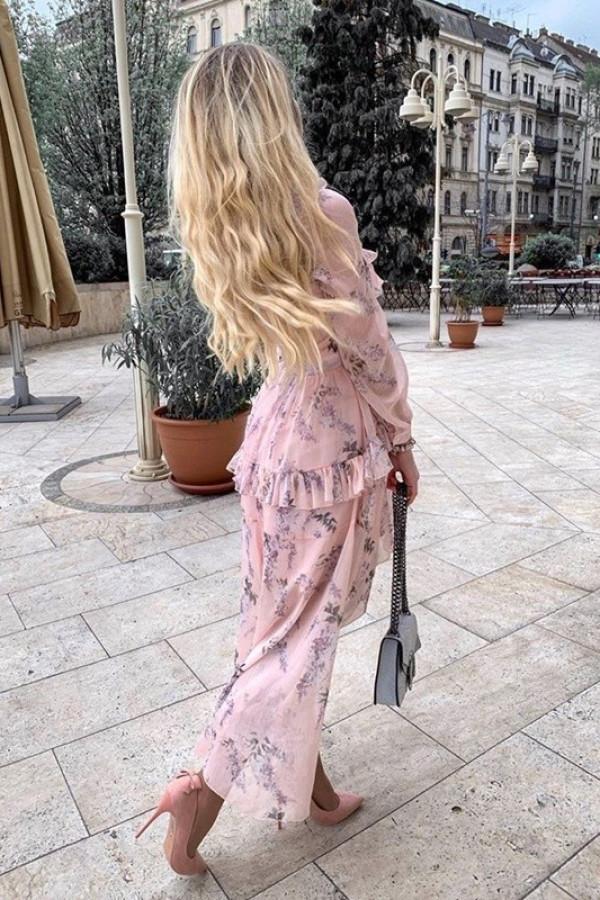 Sukienka LAURA Róż 1