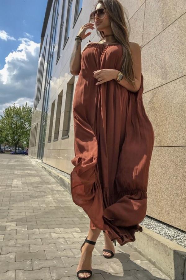 Sukienka GYPSY Brązowa