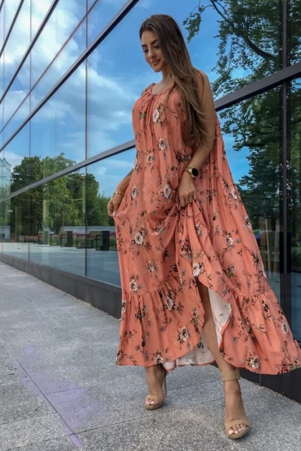 Sukienka GYPSY Print Pomarańczowy