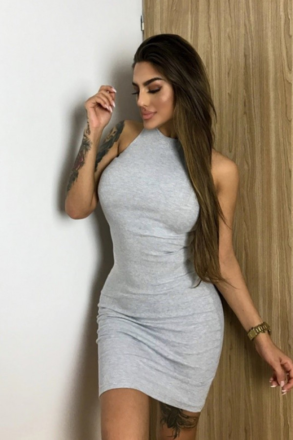 Sukienka LOREN Fresh Jasny Szary