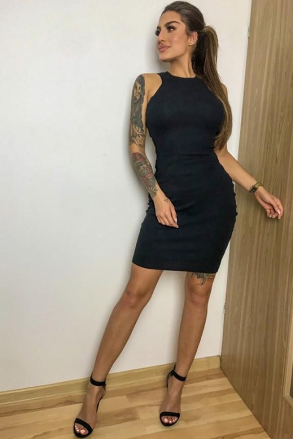 Sukienka LOREN Fresh Czarny