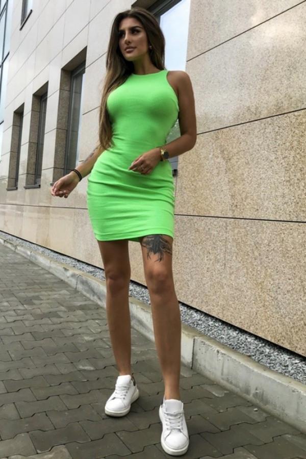 Sukienka LOREN Fresh Neon Zielony