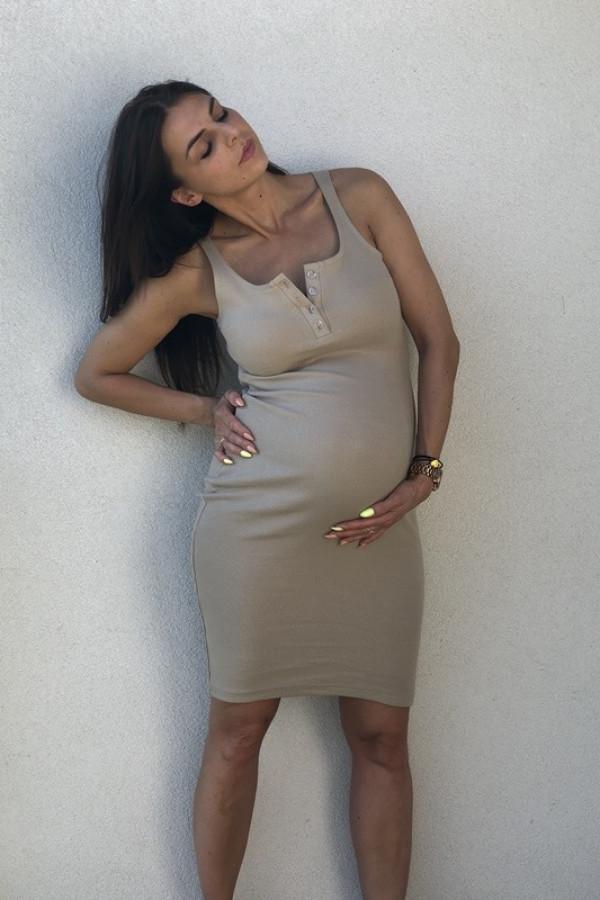Sukienka LENA Beżowa 1