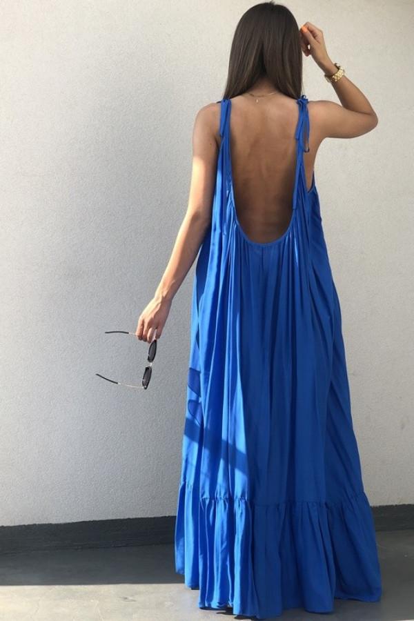 Sukienka GYPSY Niebieska 3