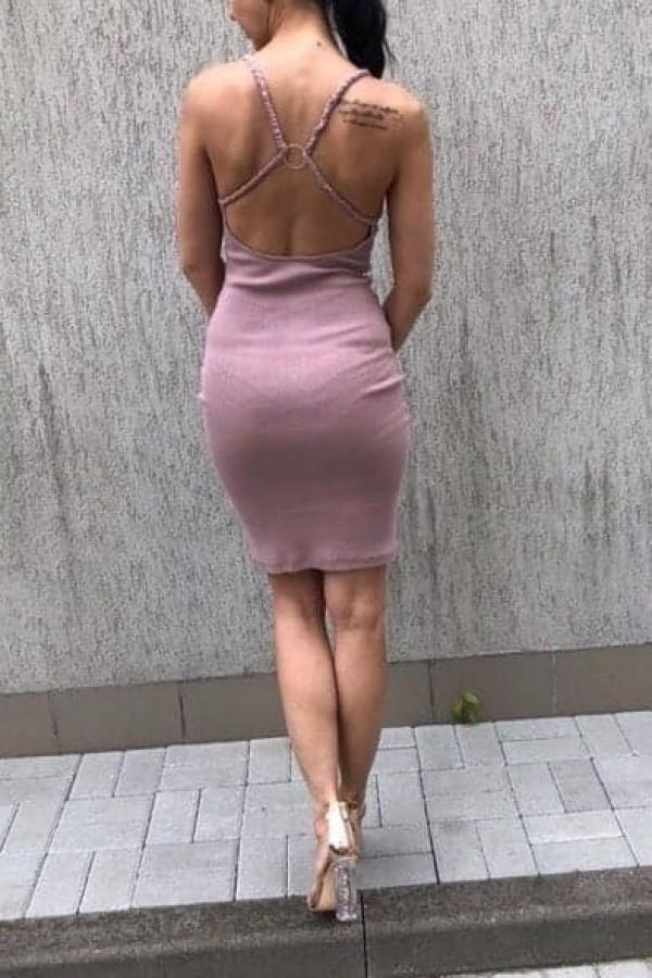 Sukienka Elizabeth Pudrowy Róż