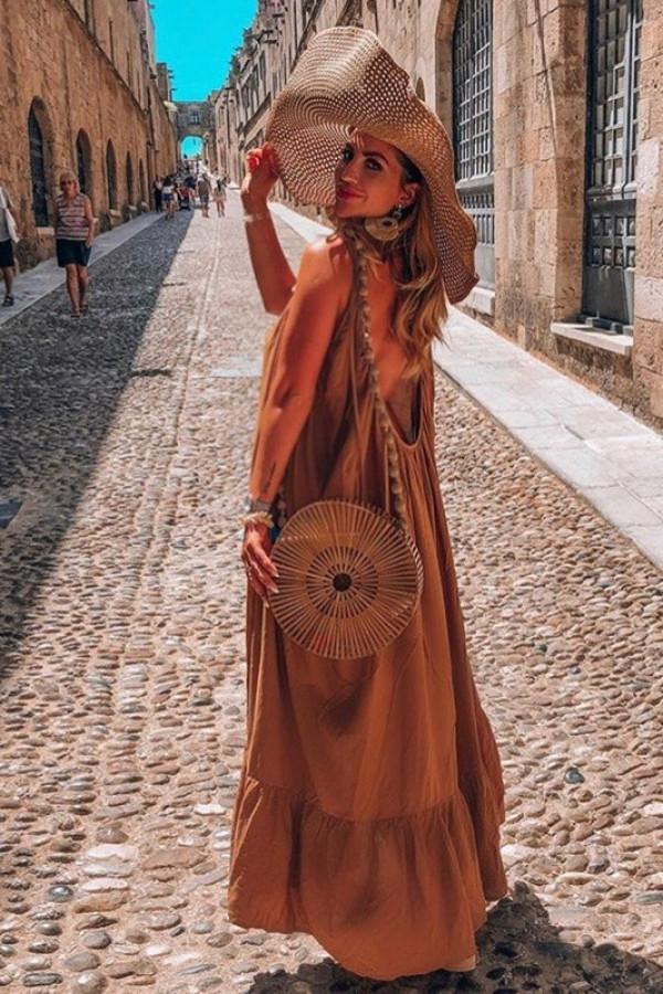 Sukienka GYPSY Karmel