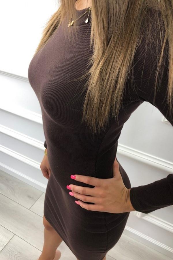 Sukienka PATI Brązowa