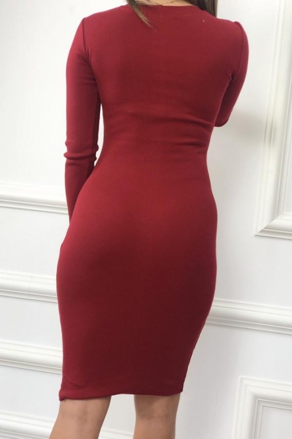 Sukienka PATI Bordowa 1