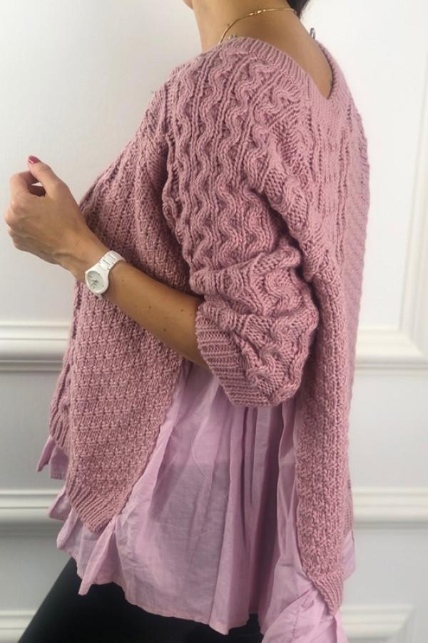 Sweter BARTI Różowy