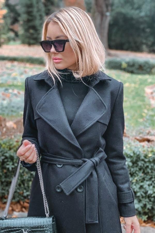 Płaszcz London Czarny 1