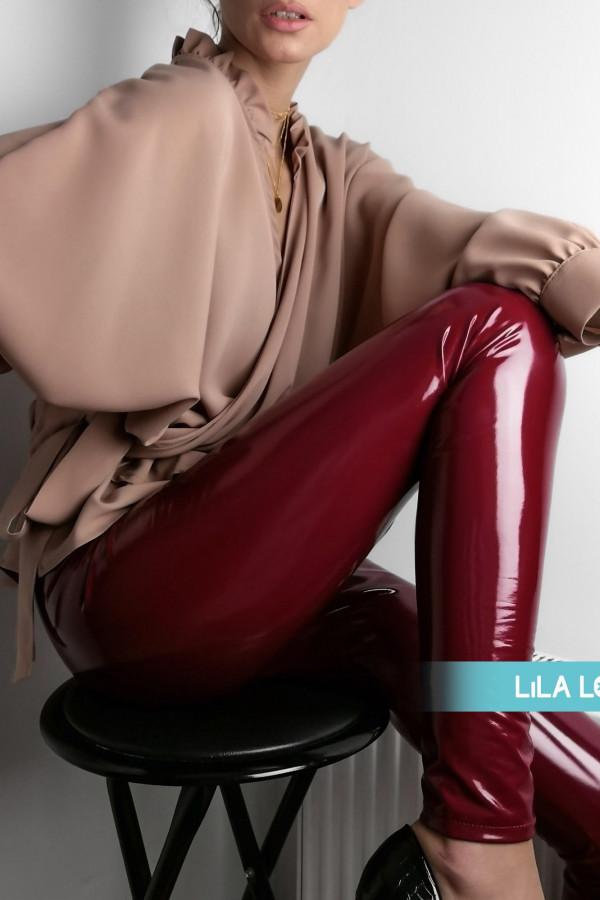 Spodnie Lateks Bordowe