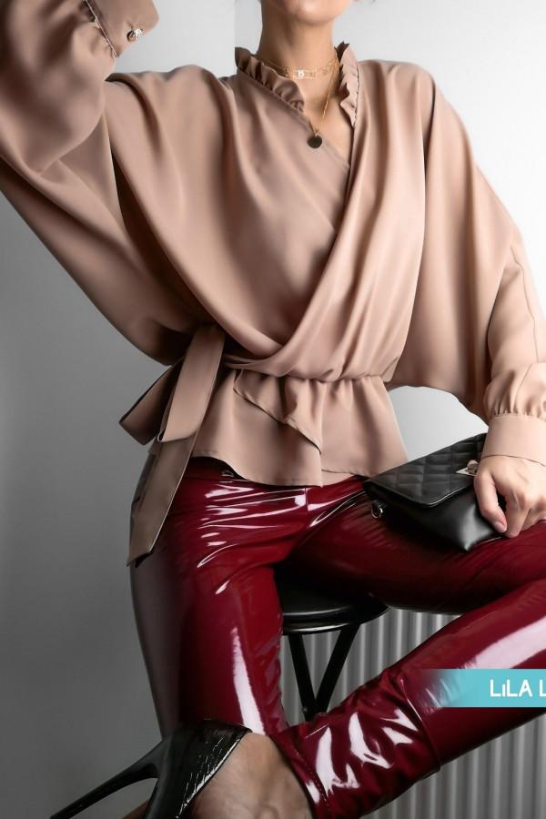 Spodnie Lateks Bordowe 1