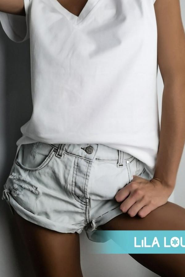 Spodenki Jeans White