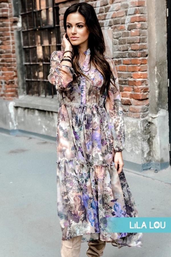 Sukienka LAILA Lila Beż 1