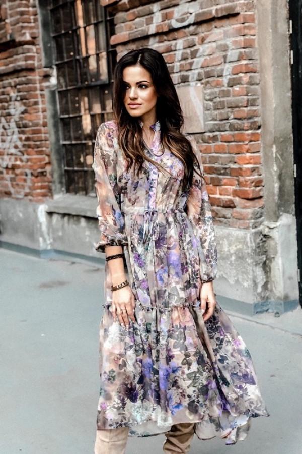 Sukienka LAILA Lila Beż