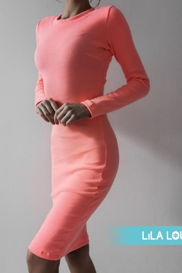 Sukienka PATI Neon Pomarańczowy