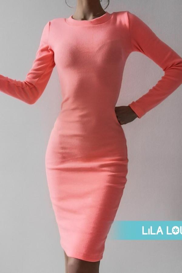 Sukienka PATI Neon Pomarańczowy 1