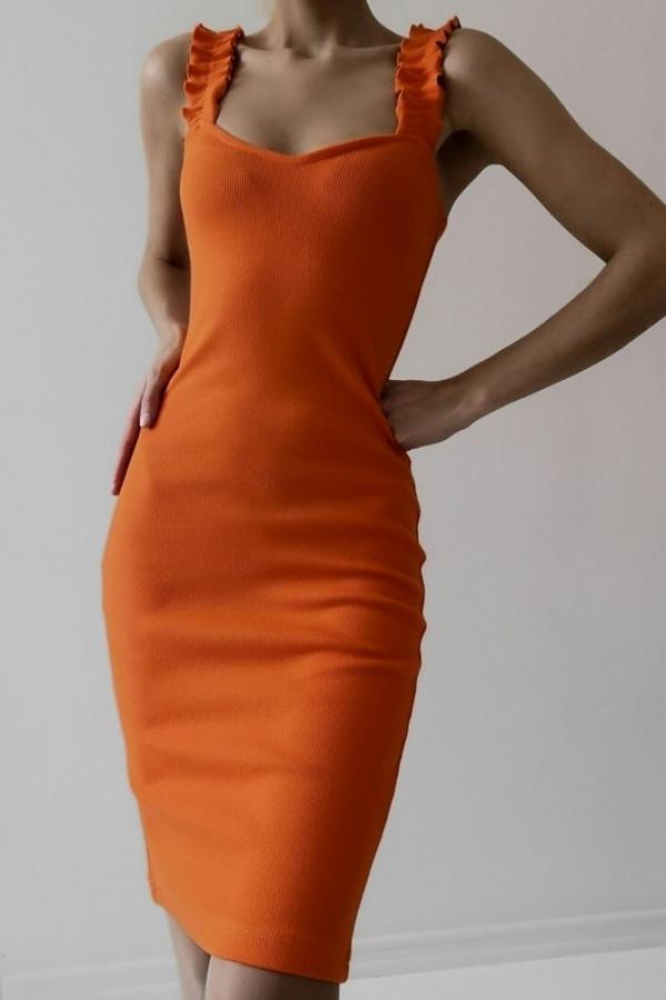 Sukienka ALICE Pomarańczowa 1