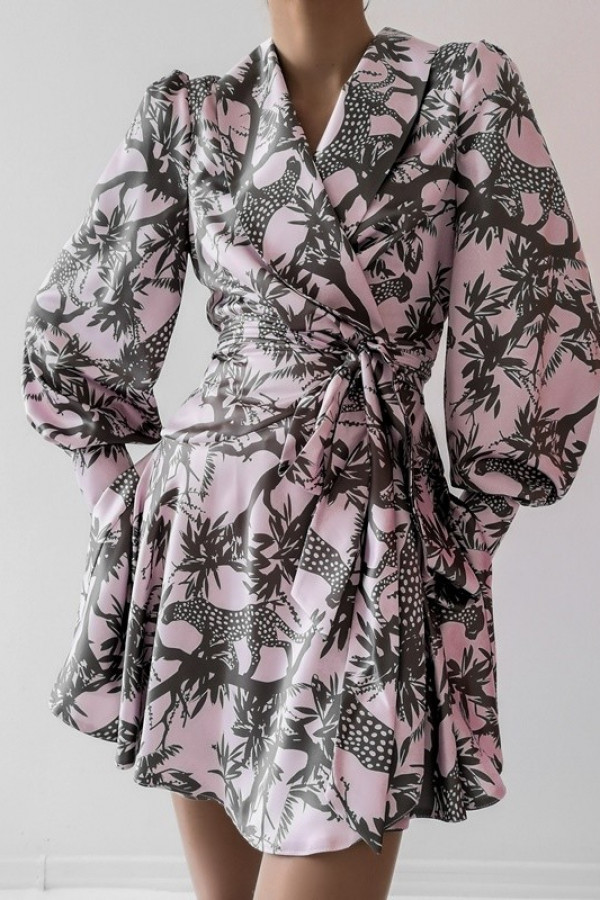 Sukienka CAROLINE Pudrowy Róż