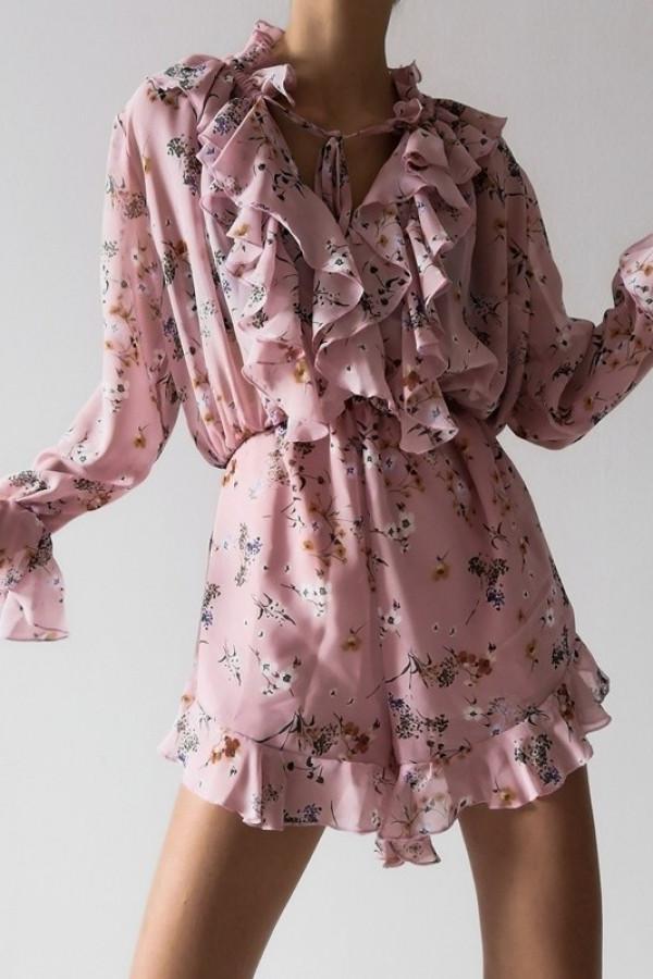 Kombinezon MIRELLA Flowers Pink