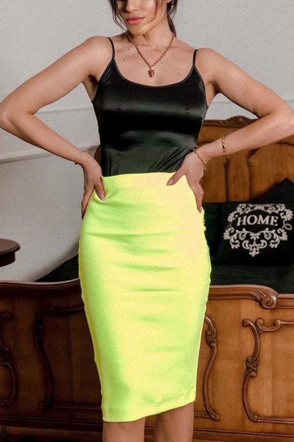 Spódnica TUBA Neon Yellow