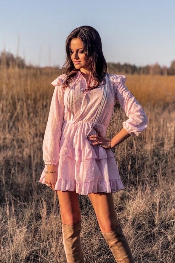 Sukienka AMI Pink 1