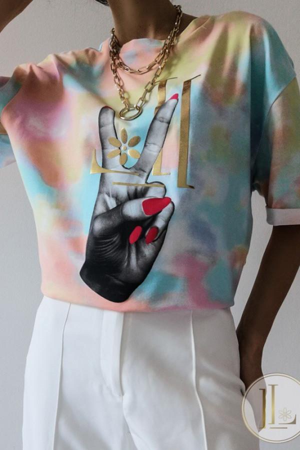 T-shirt LILA LOU HAND Blue