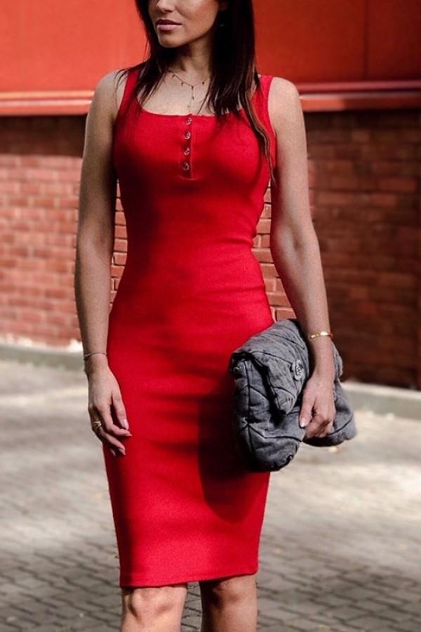 Sukienka LENA Czerwona