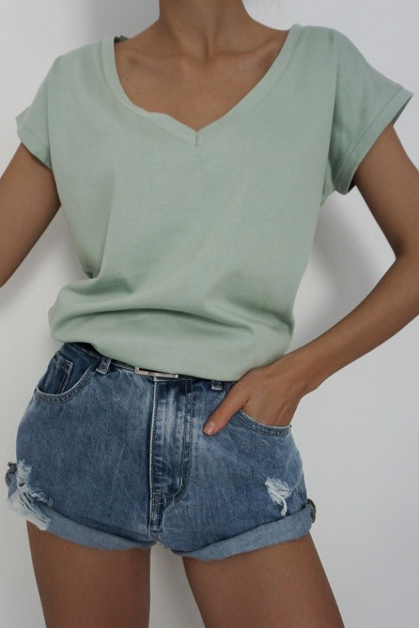 T-shirt V-NECK Olive 1