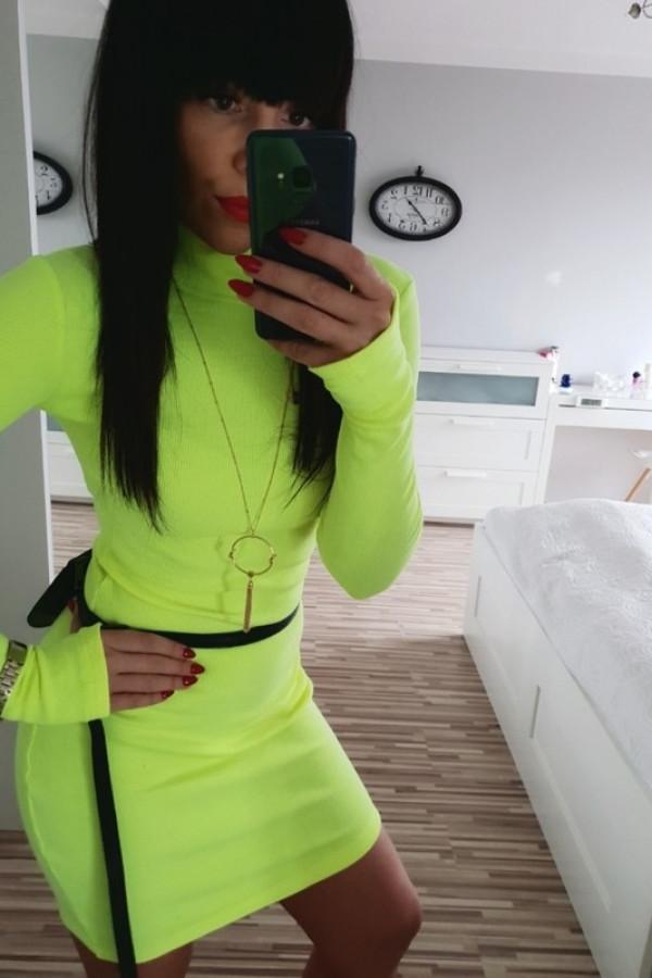 Sukienka PATI Neon Żółty