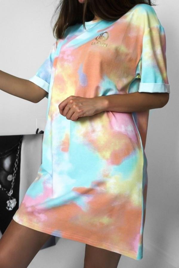 T-shirtowa Sukienka Multicolor
