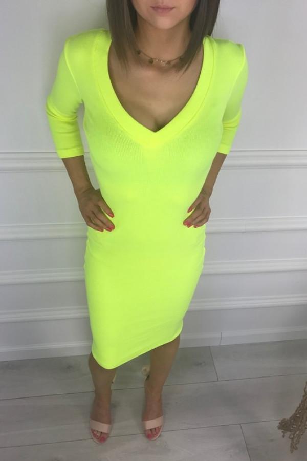 Sukienka TARA Neon Żółty