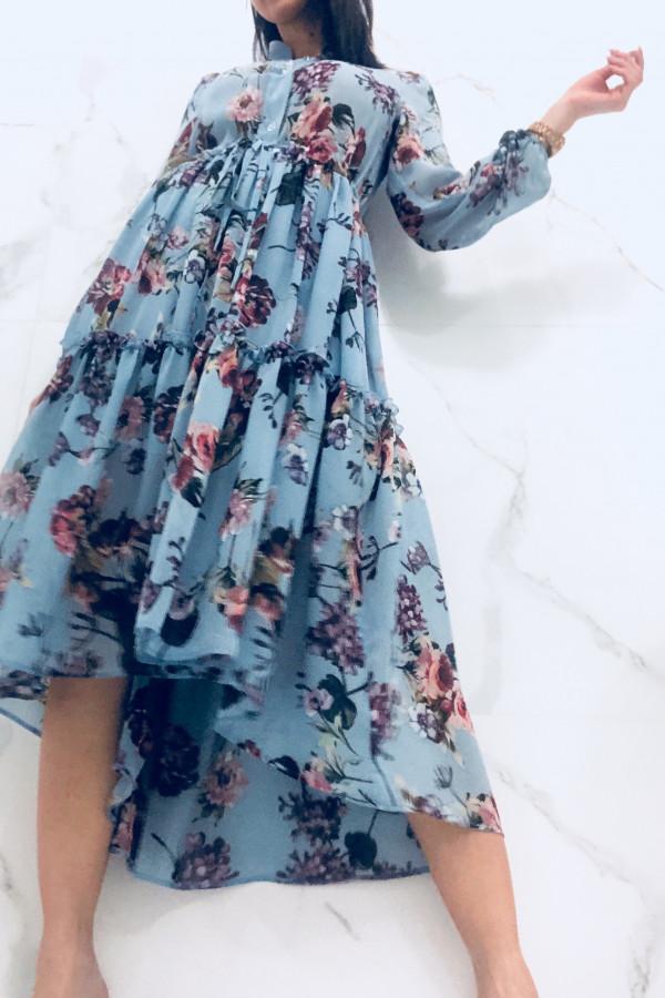 Sukienka LAILA Niebieska 1