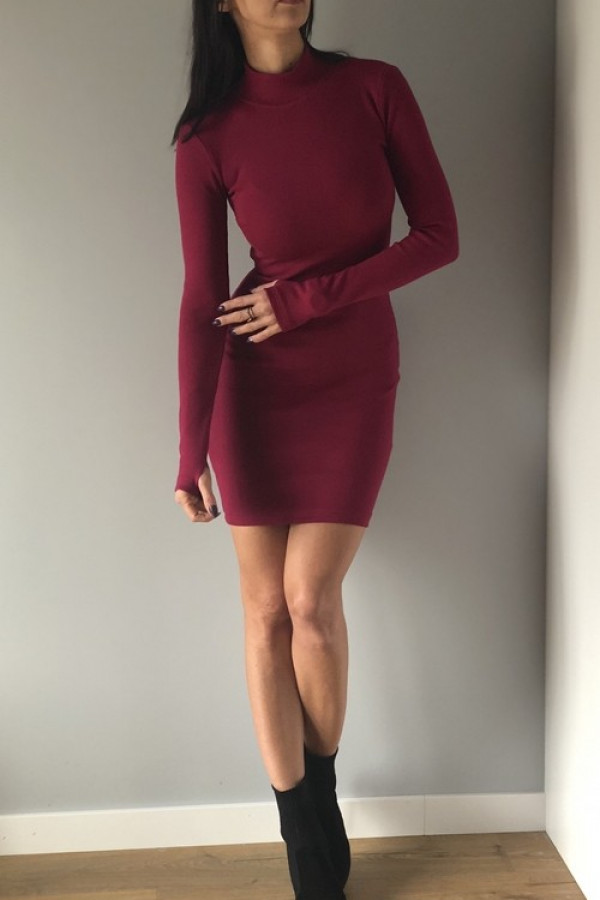 Sukienka LOSSAL Śliwkowa
