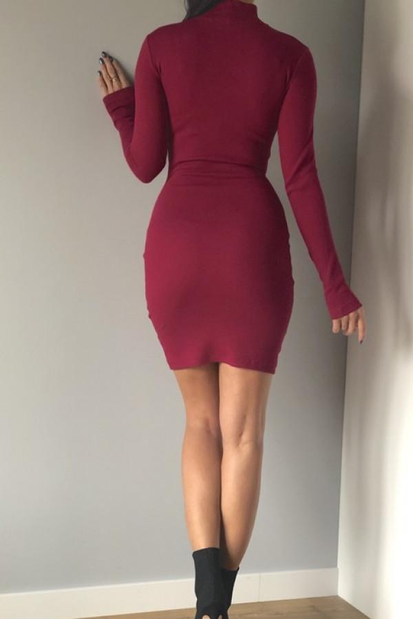 Sukienka LOSSAL Śliwkowa 1