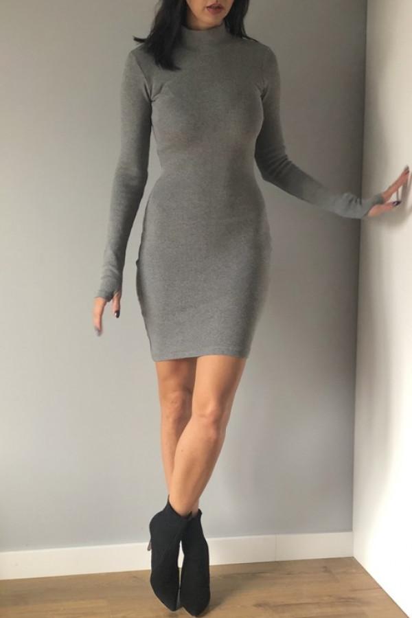 Sukienka LOSSAL Szara