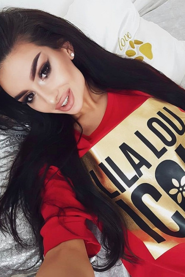 T-shirt LILA LOU ICON Red Gold