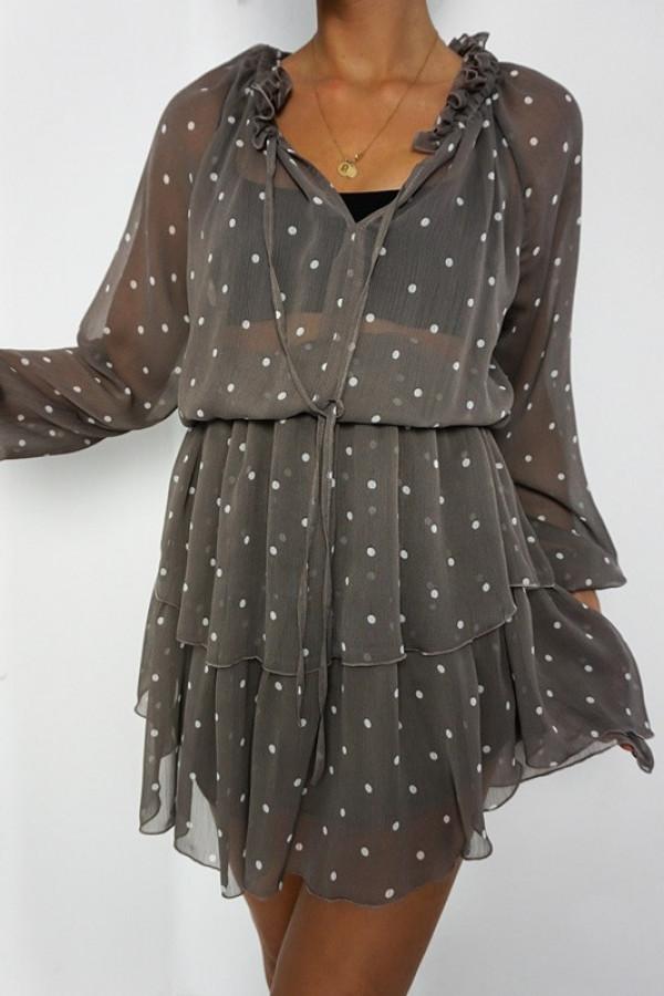 Sukienka TERI Mocca