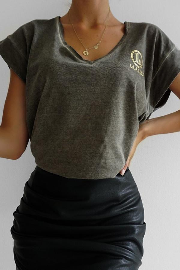 T-shirt Lila Lou Khaki